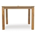 Grand Traverse Wicker Dining Set with Teak Table - LF-GRANDTRAVERSE-SET18