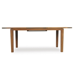 Lloyd Flanders Distressed Teak Expanding Rectangle Dining Table - 286095