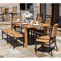 Lloyd Flanders Low Country Dining Set with Bench - LF-LOWCOUNTRY-SET15