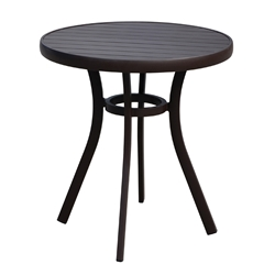 Lloyd Flanders Lux Modern Gray 27 Round Bistro Table - 54327-811