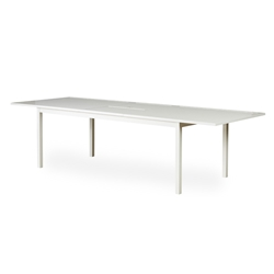 Lloyd Flanders Lux Butterfly Leaf Extension Table in Gloss White - 54484-801