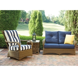 Lloyd Flanders Magnolia Loveseat and Swivel Glider Lounge Chair Set - LF-MAGNOLIA-SET5