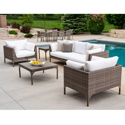 Lloyd Flanders Martinique Wicker Sofa and Lounge Chair Set - LF-MARTINIQUE-SET2