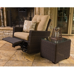 Lloyd Flanders Mesa Swivel Glider Recliner with End Table - LF-MESA-SET13