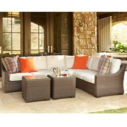 Lloyd Flanders Mesa Wicker L-Sectional - LF-MESA-SET14