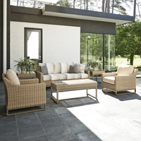 Lloyd Flanders Milan Outdoor Wicker Set with Sofa and Lounge Chairs - LF-MILAN-SET3