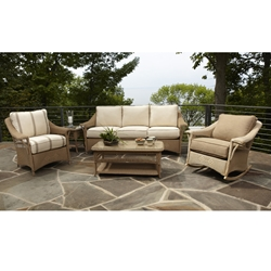 Lloyd Flanders Nantucket Patio 6 Piece Patio Set