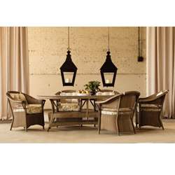 Lloyd Flanders Nantucket 7 Piece Dining Set