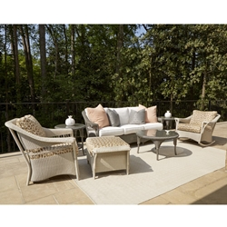 Lloyd Flanders Nantucket Loom Wicker Sofa Patio Set - LF-NANTUCKET-SET16