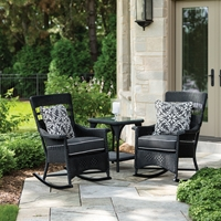 Lloyd Flanders Nantucket Loom Wicker Rocking Chair Set - LF-NANTUCKET-SET12
