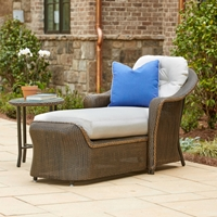 Lloyd Flanders Reflections Wicker Day Chaise and Side Table - LF-REFLECTIONS-SET14