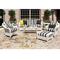 Lloyd Flanders Reflections Loom Wicker Patio Sofa Set - LF-REFLECTIONS-SET2