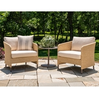 Lloyd Flanders Verona Lounge Chair Patio Set with Side Table - LF-VERONA-SET4