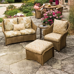 Lloyd Flanders Weekend Retreat 4 Piece Patio Set - LF-WEEKENDRETREAT-SET4