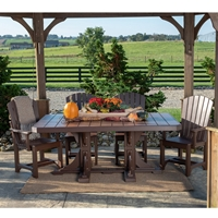 LuxCraft Adirondack Poly Dining Set for 6 - LC-ADIRONDACK-SET1