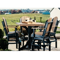 LuxCraft Adirondack Poly Bar Set for 4 - LC-ADIRONDACK-SET2