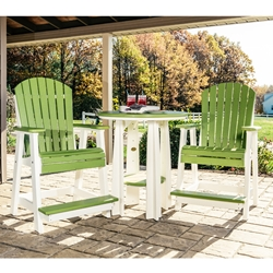 LuxCraft Adirondack Poly Balcony Patio Set for 2 - LC-ADIRONDACK-SET3