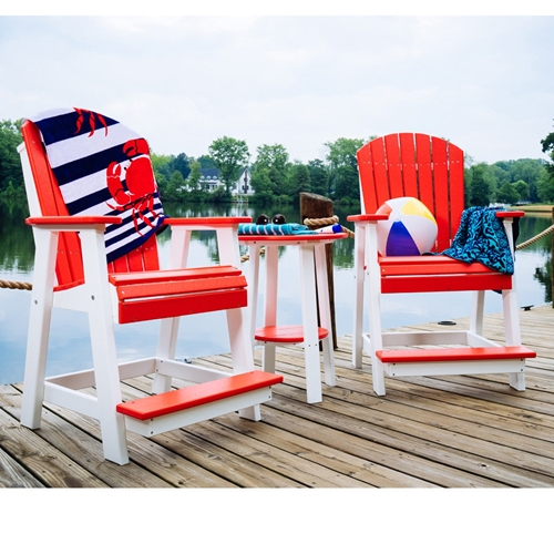 LuxCraft Adirondack Poly Balcony Height Set - LC-ADIRONDACK-SET4
