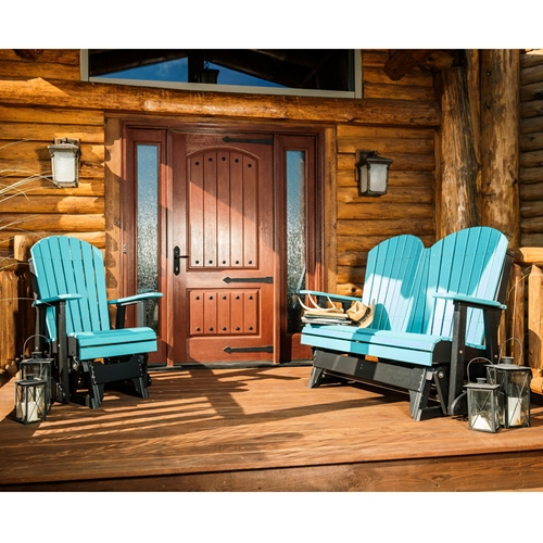LuxCraft Adirondack Loveseat and Chair Glider Set - LC-ADIRONDACK-SET7