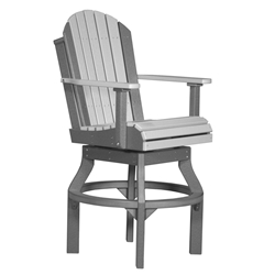LuxCraft Adirondack Bar Swivel Chair - PASCB