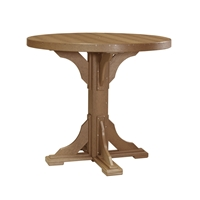LuxCraft 4' Round Bar Table - P4RTB