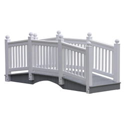 LuxCraft 10 Vinyl Bridge in White - 10CVBW