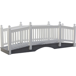 LuxCraft 12 Vinyl Bridge in White - 12CVBW
