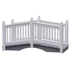 LuxCraft 8 Vinyl Bridge in White - 8CVBW