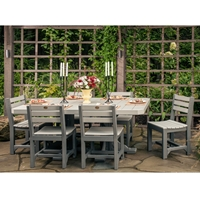 LuxCraft Classic Poly Dining Set for 6 - LC-CLASSIC-SET1