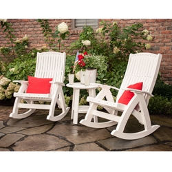LuxCraft Poly Comfort Rocker and Side Table Set - LC-CLASSIC-SET11