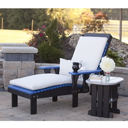 LuxCraft Poly Chaise Lounge with End Table - LC-CLASSIC-SET17