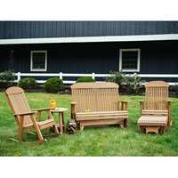 LuxCraft Poly Glider and Rocker Outdoor Furniture Set - LC-CLASSIC-SET20