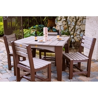 LuxCraft Island Poly Dining Set for 4 - LC-CLASSIC-SET4