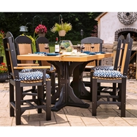 LuxCraft Classic Poly Counter Height Outdoor Set for 6 - LC-CLASSIC-SET6