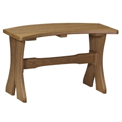 "LuxCraft 28"" Table Bench - P28TB"