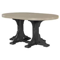 LuxCraft 4 x 6' Oval Counter Height Table - P46OTC