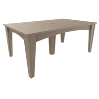 "LuxCraft 44"" x 72"" Island Dining Table - IDT4472R"