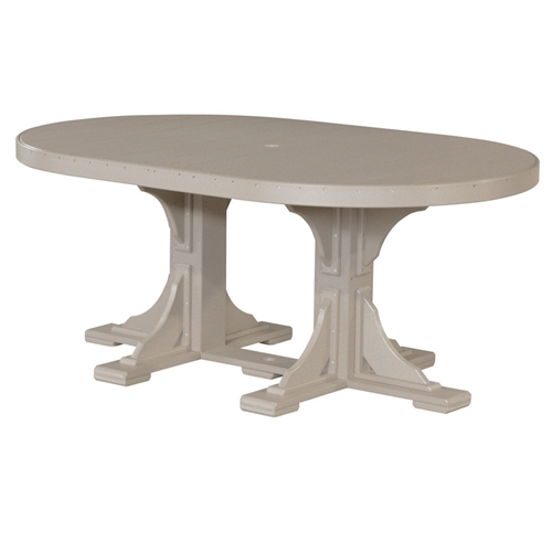LuxCraft 4x6' Oval Dining Table - P46OTD