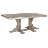 LuxCraft 4x6' Rectangular Dining Table - P46RTD