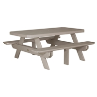 LuxCraft 6' Rectangular Picnic Table - P6RPT