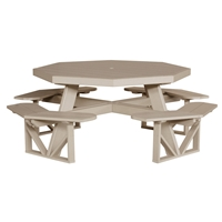 LuxCraft Octagon Picnic Table - POPT