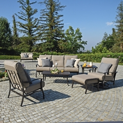 Mallin Albany Sofa and Lounge Chair Cushion Patio Set - ML-ALBANY-SET1
