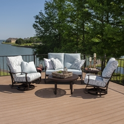 Mallin Albany Aluminum Cushion Outdoor Furniture Set - ML-ALBANY-SET2