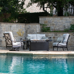Mallin Anthem Outdoor Furniture Set with Fire Pit Table - ML-ANTHEM-SET2