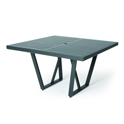 "Mallin Formosa 48"" Square Umbrella Dining Table - 5-148U"