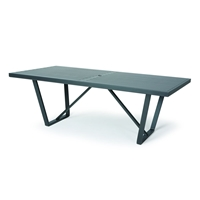 "Mallin Formosa 84"" x 42"" Rectangular Umbrella Dining Table - 5-284U"