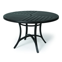 "Mallin Fulton 48"" Round Umbrella Dining Table - 4-048U"