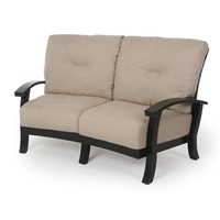 Mallin Georgetown Cushion Crescent Love Seat - GT-492