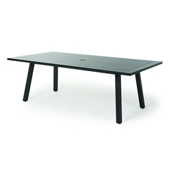 "Mallin Kensington 84"" x 44"" Rectangular Umbrella Dining Table - KN-284U"