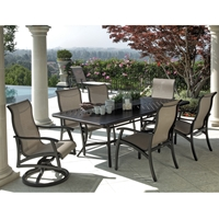 Mallin  Lynwood Aluminum Sling Outdoor Dining Set for 6 - ML-LYNWOOD-SET2